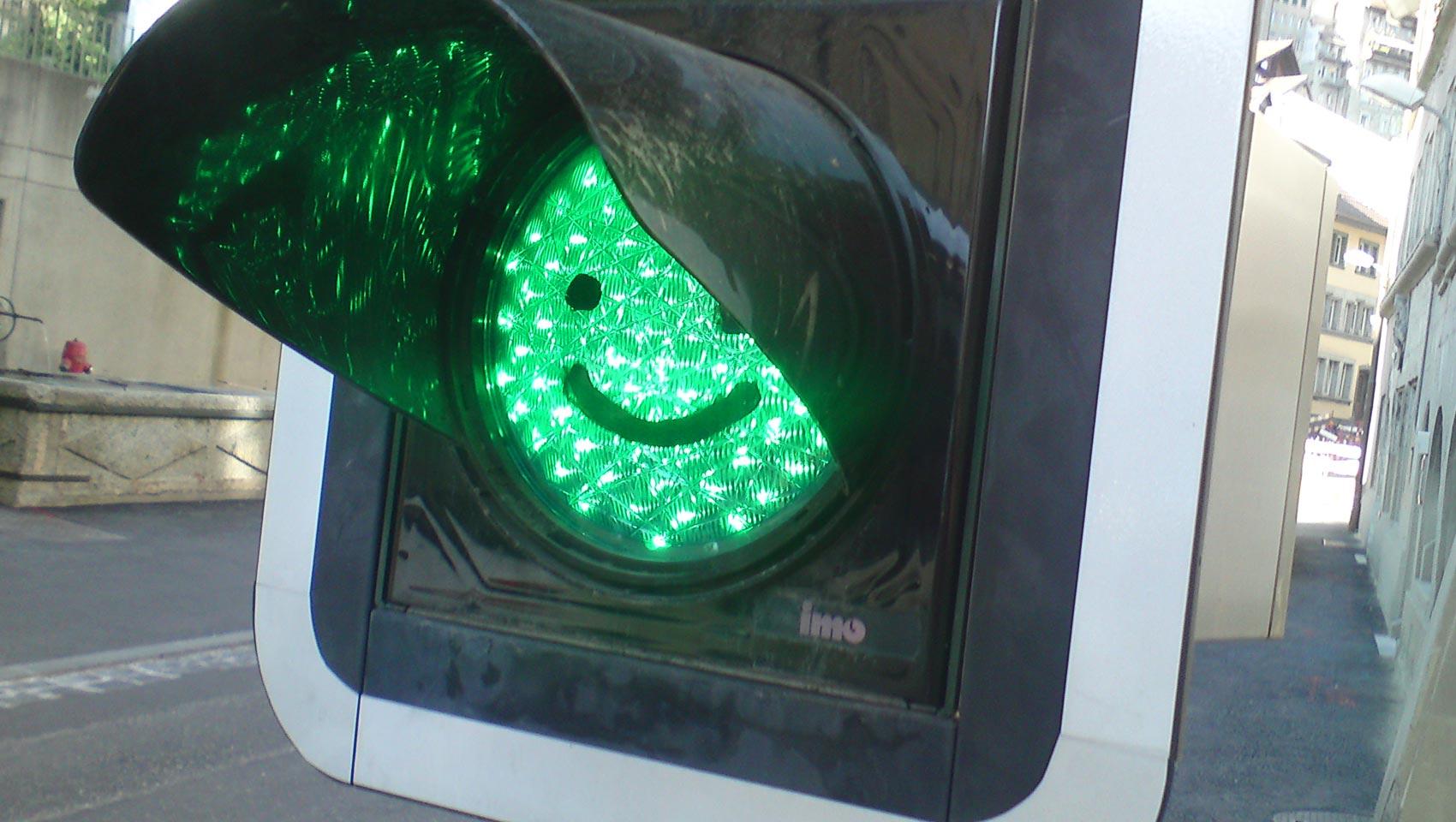 Das lustige Ampel-Smiley.